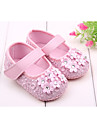 Fete Bebeluș Pantofi Flați Primii Pași Primăvară Toamnă Casual Rochie Primii Pași Piatră Semiprețioasă Bandă Magică Negru Alb Roz