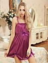 Feminin Capoate / Ultra Sexy Pijamale Dantelă / Mătase de Gheață Solid Violet