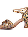 Latin/Salsa - Pantofi de dans (Leopard) - Personalizat - Pentru femei