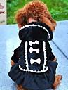 Pisici Câine Haine Hanorace cu Glugă Rochii Îmbrăcăminte Câini Cosplay Nuntă Nod Papion Negru Roz Costume Pentru animale de companie