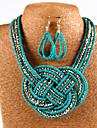 Pentru femei Perle Set bijuterii - Imitație de Perle Boem, Modă, Boho Include Gri / Verde / Roz Pentru Zilnic / Casual / Σκουλαρίκια / Coliere