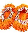 chenille tofflor moppning golvet lata blixtskolock apelsin