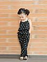 Fete Salopetă Vară Fără manșon Floral Negru