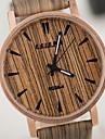 Bărbați pentru Doamne Unisex Ceas de Mână Unic Creative ceas Ceas Lemn Quartz Rezistent la Apă de lemn PU Bandă VintageAlb Maro Yellow