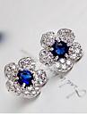 Cercei Stud Cristal La modă bijuterii de lux Ștras Aliaj Verde Albastru Bijuterii Pentru 2pcs