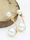 Pentru femei Cercei Stud Cercei Picătură Cristal Modă European Perle Imitație de Perle Ștras Placat Auriu Cristal Austriac 18K de aur