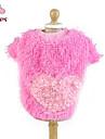 Katt Hund Kappor T-shirt Hundkläder Hjärta Gul Ros Blå Rosa Polär Ull Cotton Kostym För husdjur Cosplay Bröllop