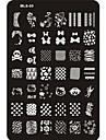 Smuk Negle kunst Manicure Pedicure Metal Abstrakt / Klassisk / Tegneserie Daglig / Stempling Plate