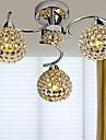 3-Light Candelabre Iluminare verticală - Cristal, LED, 110-120V / 220-240V, Alb, Bec Inclus / 30-40㎡ / E12 / E14