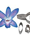 Four-C dendrobium orchid kronblad blomma cutter, tårta dekorera verktyg fondant mögel cutter cookie-tillbehör verktyg