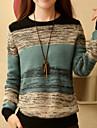 Femei Casual Pijamale Manșon Lung Plover Tricotaje/Amestecuri Bumbac Mediu