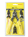 rewin® verktyg 4 olika huvuden låsringstång rewin verktyg 175mm