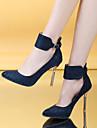 Pentru femei Pantofi Imitație de Piele Primăvară Vară Toc Stilat pentru Casual Birou și carieră Rochie Negru Rosu Albastru