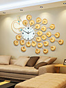 stil modern creativ de aur super-mare ceas de perete mut păun