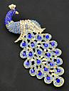 Peacock frumos decor de nunta broșă
