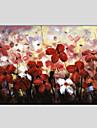 Hang-pictate pictură în ulei Pictat manual - Floral / Botanic Stil European Modern pânză