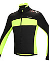 SANTIC Cykeljacka Herr Cykel Jacka Överdelar Vinter Bomull Cykelkläder Håller värmen Vindtät Anatomisk design Fleecefoder Reflexremsa
