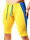 Herr Joggingshorts Andningsfunktion, Mjukhet Shorts / Leggings / Cykling Tights Yoga / Pilates / Motion & Fitness Terylen Gul / Blå /