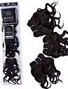 Brasilianskt hår Klassisk Lockigt Hårförlängning av äkta hår Hög kvalitet 0.105 Dagligen