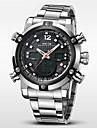 WEIDE Bărbați Ceas de Mână Quartz Quartz Japonez LCD Calendar Cronograf Rezistent la Apă Zone Duale de Timp alarmă Ceas Sport Oțel