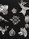 beadia antic de argint farmec de metal pandantive dragon tigru lup cerb elefant forma capului bijuterii DIY pandantiv