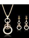 Pentru femei Set bijuterii Seturi de bijuterii - Zirconiu Cubic, 18K Placat cu Aur Auriu