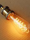 1 buc 40W E26/E27 ST64 2300 K Incandescent Vintage Edison bec AC 220V AC 220-240V V