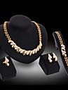 Pentru femei chunky Set bijuterii - 18K Placat cu Aur Declarație, Festival / Sărbătoare Include Cercei Picătură / Lănțișor / Brățară Auriu Pentru Petrecere / Ocazie specială / Aniversare / Inel