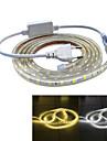 Jiawen etanche 26W 160lm 120x5050 bande LED SMD de lumiere flexible (2m de longueur / 220v)
