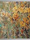 Pictat manual Floral/Botanic Pătrat, Modern pânză Hang-pictate pictură în ulei Pagina de decorare Un Panou
