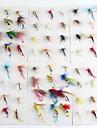 72 pcs Vliegen Kunstaas Vliegen Metaal Drijven Vliegvissen