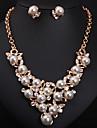 Dame Seturi de bijuterii La modă Cute Stil costum de bijuterii Perle Diamante Artificiale Σκουλαρίκια Lănțișor Pentru Petrecere Ocazie