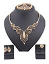 Pentru femei Placat Auriu / Diamante Artificiale Draguț Set bijuterii Brățară / Σκουλαρίκια / Coliere - Lux / Vintage / Petrecere Seturi