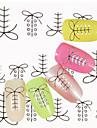 1 Vattenövergångsklistermärke Snörklistermärke Nail Smycken 3D Nail Stickers Mode Punk Dagligen Hög kvalitet