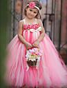 rochie de mireasa glezna lungime rochie fata rochie - tul poliester cordless spaghete curele cu flori de thstylee
