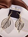 Pentru femei Cercei Picătură - Leaf Shape Argintiu / Auriu Pentru Nuntă / Petrecere / Zilnic