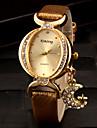 pentru Doamne Ceas La Modă Ceas Brățară Simulat Diamant Ceas Quartz imitație de diamant PU Bandă Sclipici Negru Alb Roșu Auriu VioletAlb