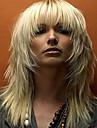Syntetiskt hår peruker Vågigt Utan lock Mellan Blond