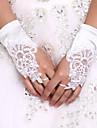 Spandex K zápěstí Rukavice Pro nevěstu / Party rukavičky S Perličky