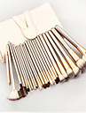 24 Makeup Brush Set Synthetic Hair Portable Travel Eco-friendly Professional Full Coverage Wood Eye Face Lip