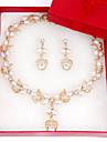 Pentru femei Perle Set bijuterii Σκουλαρίκια / Coliere - Modă Seturi de bijuterii Pentru Nuntă / Petrecere / Ocazie specială