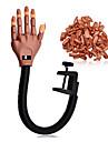professionella nagel tränare verktyg super flexibla fingrar med spik tips personliga&salong justerbar tränings praktiken handen