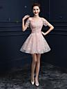 Linia -A Lungime Genunchi Dantelă Seară Formală Rochie cu Aplică Paiete de TS Couture®