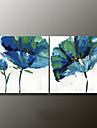 Pictat manual Floral/BotanicModern Două Panouri Canava Hang-pictate pictură în ulei For Pagina de decorare