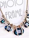 Pentru femei Cristal Coliere cu Pieptar Coliere - Cristal, Diamante Artificiale European, Festival / Sărbătoare Albastru, Culoare ecran, Verde Închis Coliere Pentru Petrecere, Ocazie specială, Zi de