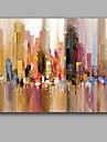 Pictat manual Abstract Orizontal,Stil European Un Panou Canava Hang-pictate pictură în ulei For Pagina de decorare