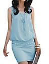 Femei Elegant bumbac Bodycon OL moda rochie