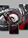 HANDMÅLAD Abstrakt vilken form som helst, Moderna Duk Hang målad oljemålning Hem-dekoration Tre paneler