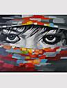 HANDMÅLAD Människor Horisontell Panoramautsikt, Moderna Duk Hang målad oljemålning Hem-dekoration En panel