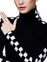korean cu maneca lunga in carouri se potrivesc guler înalt bottom pulover lână femei